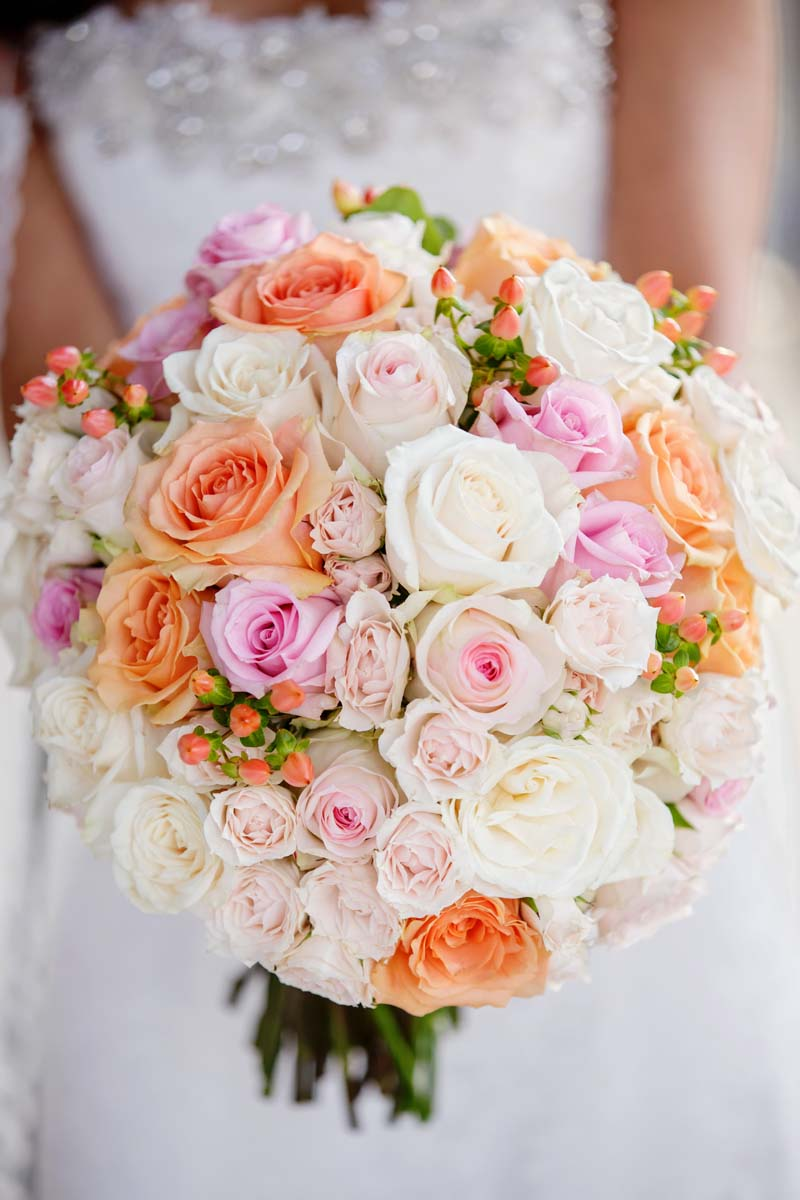 Pink Bridal Bouquet Arrangements